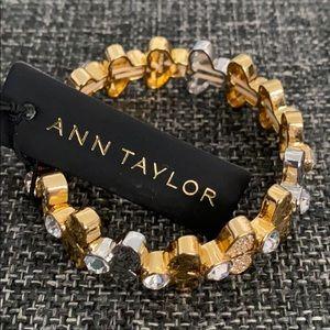Ann Taylor half clover stretch bracelet